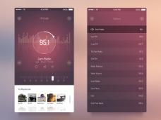 iOS7电台UI界面PSD素材