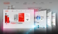 数码公司网页设计psd素材