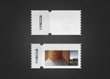 邮票效果标签PSD素材