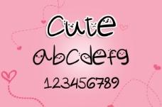 一款可爱的英文表情字体