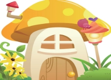 蘑菇小屋信箱psd素材