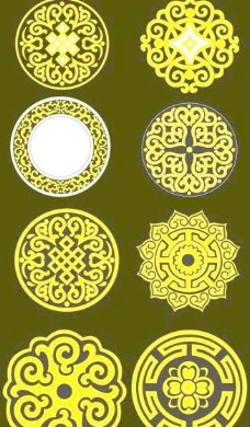 蒙古族纹饰花纹