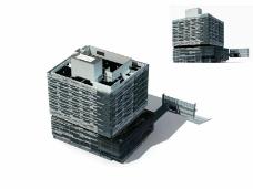 方型大楼建筑
