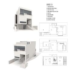 白色别墅模型
