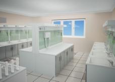 3d 医疗室 清洗室图片