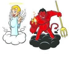天使 魔鬼图片