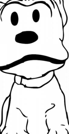 手绘狗形状台历