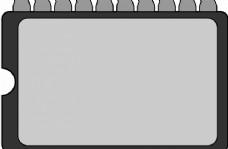 BIOS芯片矢量剪贴画