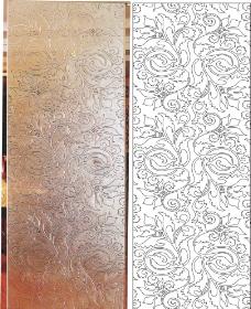 抽象花欧式花艺术玻璃背景墙