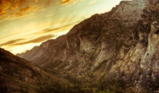 峡谷的日落图片