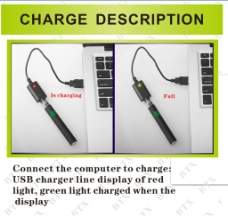 电子烟电池充电器说明图片