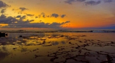 落日海滩图片