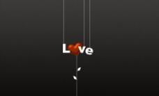 创意love背景图片