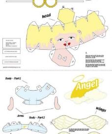 折纸天使图片