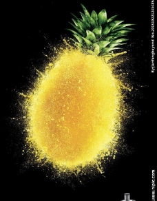 水果忍者菠萝创意广告图片