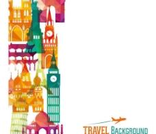 创意经典建筑与旅行背图片