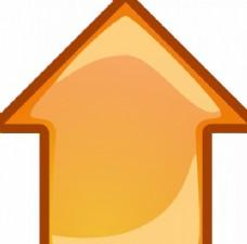 橙色箭头指向矢量图