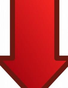 红色箭头指向矢量图像