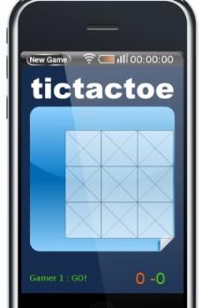 随着屏幕上的图像矢量的井字游戏iPhone