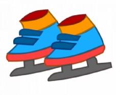 花样滑冰鞋矢量剪贴画