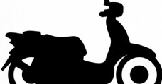 摩托车剪影矢量图像