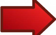 红色箭头指向正确的矢量图像