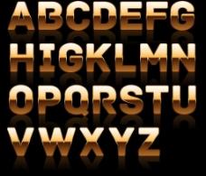金属字母图片
