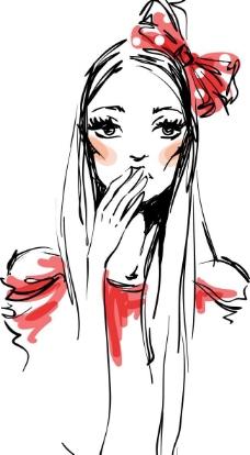 手绘漫画美女