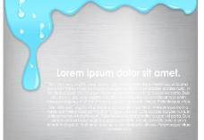 蓝色动感油漆墨迹背景图片