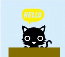 黑猫hello图片