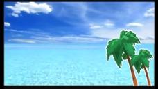 卡通大海椰树视频素材