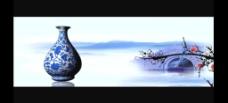 中国青花瓷视频素材