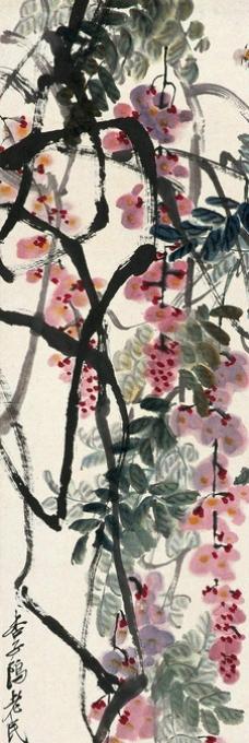 桂树绶带图图片,国画 花鸟 国画花鸟-图行天下图库