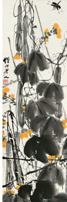 丝瓜蜻蜒图片
