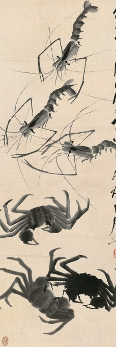 虾蟹图图片