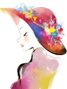 时尚女孩 时尚插画 美图片