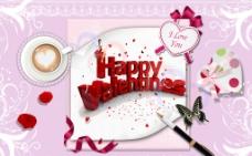 情人节海报设计图片