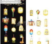 多款灯笼 灯具系列素材