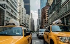 城市出租车图片