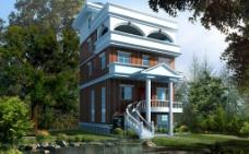 山中别墅环境设计图片
