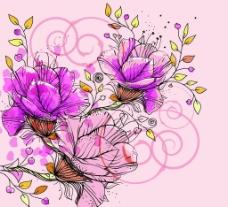 花藤花纹图片