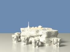 石桌石凳3d模型