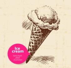 手绘冰淇淋图片
