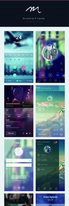 iOS7风格手机界面