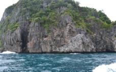 大海礁石图片