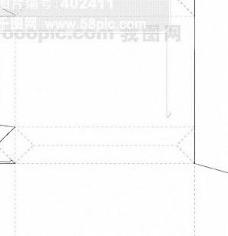 包装盒外形矢量 纸盒矢量 包装盒展开分割图矢量117