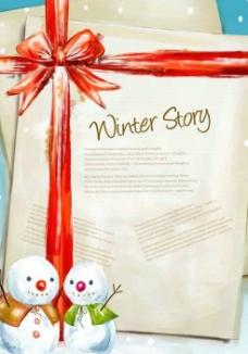 圣诞节信纸PSD素材