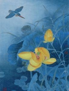 黄荷蓝翠图片