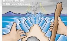 龙卷风与海水