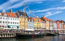 哥本哈根老码头图片